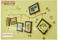 Graphic vinyl PVC Animal Solid Wood Living Room Photo Wall,Creative Photo Picture Frame,Creative Combination Photo 6 Frame Wall,Top Quality,FREE SHIPPING