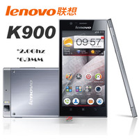WCDMA Dual Core Android Lenovo K900 Smart Phone 5.5 Inch FHD Screen Intel Powered 2.0GHz Android 4.2 2G RAM +32G ROM Silver