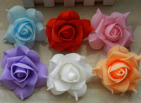artificial pitches - 7cm foam roses head PE plastic flower artificial flowers wedding flowers studio pitch lead series