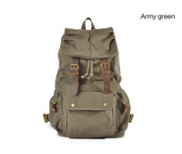 Wholesale HOT Sale New Fashion Men s Canvas Bag Travel Backpack Military Style Backpack