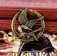 Wholesale hot selling Gold Silver Bronze Movie Hunger Games Mockingjay pin brooches