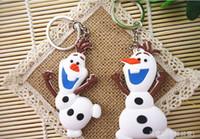Wholesale Hot Best Gift Anime Cartoon Movie Frozen Keychain Set Cute Elsa Anna Olaf Snow Romance Snow treasure Sided key chain