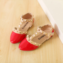 Wholesale Trendy Girl Sandals Girls Fashion PU Valen Shoes Children Rivets Flats Half Sandals Hot Sale Korean Style Years to Years