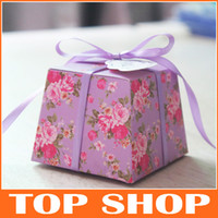 Wholesale 2014 New Trapezoidal Joyful Boxes Paper Wedding Favor Box HQ0100