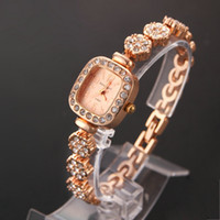 Wholesale Fashion Dress Watch Crystal women s luxury watches square Case Shape stell Plum flower Strap wristwatch