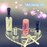 Replaceable 2.0ml mini vivi nova V2 mini ViVi Nova V2 tank clearomizer color e cig atomizer long wick electronic cigarette atomizer