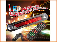 Wholesale V LED Message Digital Moving English and Russian display Scrolling Car Sign Light Red Color LED door windows display