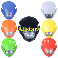 Wholesale Brand New Dirt bike Off Road Motorcycle Universal Vision Headlight fit for Acerbis