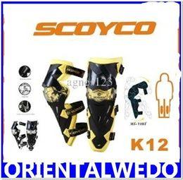 Wholesale SCOYCO K12 MOTORCYCLE KNEE EBLOW PROTECTOR HIGH QUALITY SPORT SCOOTER MOTOR RACING GUARD SCOOTER PAR top sale