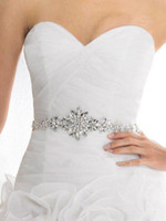 Wholesale 2014 Wedding Dresses Belt Wedding Dress Sash Crystal Beaded Beautiful Bridal Gown