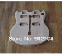 Red Solid Left-handed FREE SHIPPING HOT SELLING UNFINISHED double neck body ELECTRIC GUITAR can paint any color for you