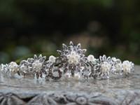 Cheap 2014 wedding crown tiaras Bridal Crystal RhinestonePretty FashionTrendy Bridal Rhinestone Crystal Flower Crown Headband Veil Tiara Wedding