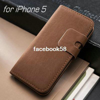 Wholesale DHL Soft Feel Luxury Leather Case for iPhone S G iPhone5g phone Stand Wallet Flip Book with Card Holder