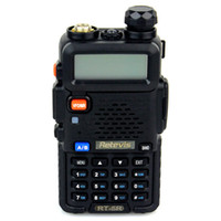 Wholesale Walkie Talkies Transmitter and receiver RETEVIS RT R W CH UHF VHF DTMF VOX Dual Band FM Radio Fast Shipping A7105A