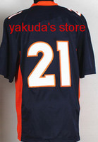 2014 New Fans Style #21 TALIB Black Game Jersey Football Jer...
