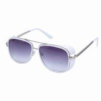 Wholesale New High Quality White Sunglasses Resin amp Plastic Stylish Sport Men Women Unisex fashion Beach Street Sun Block Sunglasses ZUC3
