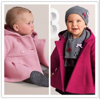 Wholesale Retail Spring Autumn Baby Girls Coat Children Cotton Lining Jacquard Baby Coat Jacquard Lining Quilted Hooded Jacket Kids Outwear