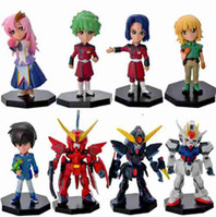 Wholesale 8 Styles Cartoon Anime PVC Gundam Model Doll Action Figure Athrun Zala Henrietta Lacks Gift