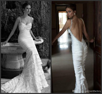 Cheap Trumpet/Mermaid A Wedding Dress Best Reference Images Spaghetti Wedding Gowns