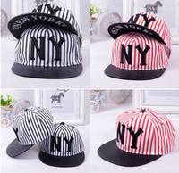 Wholesale Adjustable Fashion New York Hat NY Stripe Snapback Cap Men Basketball football Hip Pop Baseball Caps Hip hop hat baseball hat colours