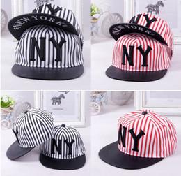 Wholesale Adjustable Fashion New York Hat NY Stripe Snapback Cap Men Basketball football Hip Pop Baseball Caps Hip hop hat baseball hat colours
