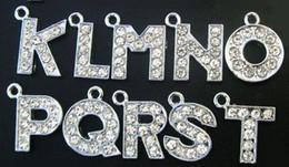 Wholesale 130PCS lot 12mm A-Z Rhinestones Hang Pendant Letter diy Alphabet Accessories Fit For Bracelet Necklace Jewelry Making