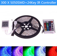 Wholesale Waterproof m RGB SMD LED Strip Light M Leds Light Ribbon Tape Living Room Decoration IR Remote Control
