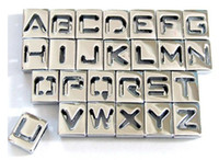Wholesale 260pcs mm A Z Hollow slide letter DIY accessories pet dog charm jewelry findings
