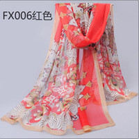 Wholesale 2014 chiffon print scarves fashion summer new high grade chiffon georgette silk twill scarves Ms