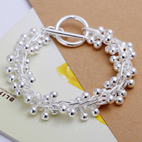 South American american group - Fashion jewelry Silver Grape Group Chain Bracelet Hot Sale Jewelry