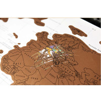 Wholesale World Map cm Scratch OFF MAP Travel Scratch Map Personalized World Map Poster
