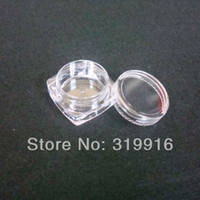 Wholesale g ml pc square jar with round lid transparent clear plastic jar bottles containers
