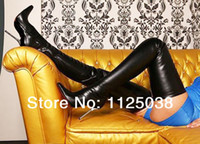 Wholesale New Arrival Hot knee boots custom made high heel boots patent leather combat boots black over the knee boots