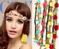 Fashion hair accessories Ms. Flower Headband Flowers Wig Rib...