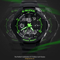 Wholesale Freeship mens military watch sports watches time zone digital quartz Chronograph jelly silicone swim dive M Waterproof watch