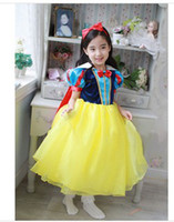 Wholesale 2014 Snow White Princess Girls Cosplay Costume Children s Day Party Fairt Tale Dresses Kids Formal Dresses B3444