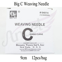 Wholesale 6cm and cm length C TYPE Hair Weaving Needle Sewing Needles For Human Hair Extension Tools