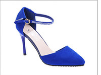 Wholesale 2014 Brand New Design Vintage Sexy Pointed Toe High Heels Women Pumps Shoes