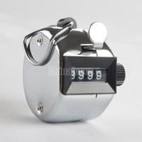 Wholesale Chrome Hand Tally Counter Digit Number Clicker Golf