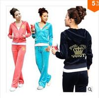 Wholesale Fashion Autumn Sportwear set casual style sport suit women hoodies sport suit colors TER02