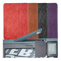 amazon - LED leather cover For Amazon kindle kindle leather case with built in light Screen Protector as a gift