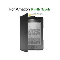 Wholesale For Amazon kindle touch lighted cover case with built in LED screen protector Touch Pen