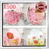 Wholesale Cartoon bathroom toilet sticker multi purpose at home decoration wall stickers thickening waterproof Flower Heart patterns500pcs