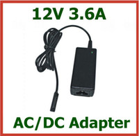 Wholesale 20pcs AC DC Adapter V A W Charger for Tablet PC Microsoft Surface Pro Surface RT Surface Pro with AC Cable Power Adapter Supply