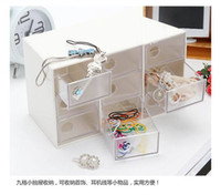 Wholesale New Nine grid transparent plastic storage box drawer CM