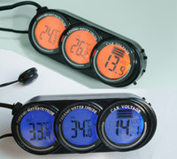 Wholesale Car voltage meter in out thermometer ET39