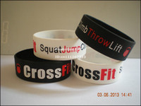 Unisex jump in - Squat Jump Climb Throw Lift Cross Fit wristband quot wide band filled in colour
