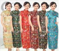 Wholesale Traditional China Women s Dress Skirt Ten buckle Cheong sam size S XXL