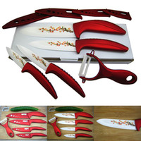 Wholesale Beauty Gifts Ceramic Knife Set Kitchen Knives Fruit Chef s Knife Kit quot quot quot quot Inch Peeler Covers