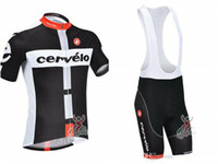 Wholesale team cervelo bicycle sportswear castelli cycling jersey short bib sets good quality